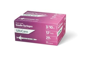 ULTIMED ULTICARE INSULIN SYRINGES : 9239 BX $13.49 Stocked