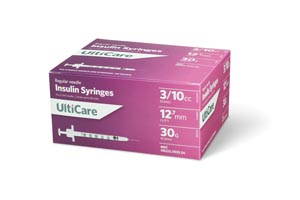 ULTIMED ULTICARE INSULIN SYRINGES : 9335 BX $13.49 Stocked