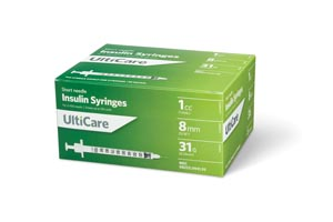 ULTIMED ULTICARE INSULIN SYRINGES : 9419 BX               $13.49 Stocked