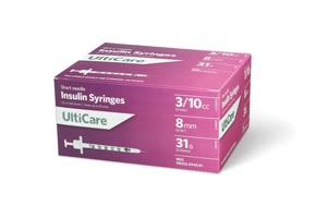 ULTIMED ULTICARE INSULIN SYRINGES : 9439 BX $13.49 Stocked
