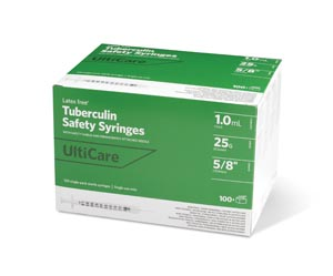 ULTIMED ULTICARE TUBERCULIN SAFETY SYRINGES : 25158 BX $23.32 Stocked