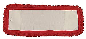 """Pro Advantage P126318 Mop Pad, Ultra Looped-End Microfiber, Pocket Style, Red, 5"""" x 18"""","""