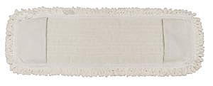 "Pro Advantage P126018 Mop Pad, Ultra Looped-End Microfiber, Pocket Style, White, 5"" x 18"","