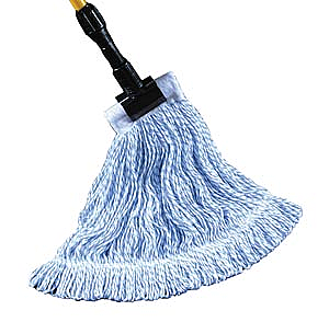 "PRO ADVANTAGE  Waxer Finish Mop, 4Ply, Blue and White, 5"" Headband, Single Tailband, Large  Compare to Newell Rubbermaid Brand FGD553                  $62.76 Stocked"
