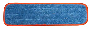 """PRO ADVANTAGE  Wet Mop Pad, Velcro, Blue Microfiber with Orange Binding, 5"""" x 18""""   Compare to Newell Rubbermaid Brand FGQ410"""