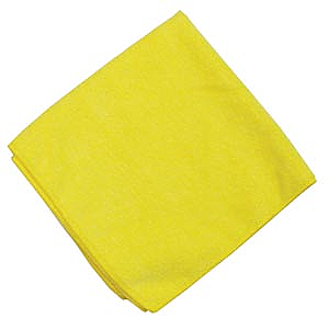 """PRO ADVANTAGE Microfiber Towel, Yellow, 300 GSM, 16"""" x 16"""",   Compare to Newell Rubbermaid Brand FGQ620YL00"""
