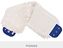 """Pro Advantage P126020 Mop Pad, Ultra Looped-End Microfiber, Tab Style, White, 5"""" x 18"""",                        $62.00 Stocked"""
