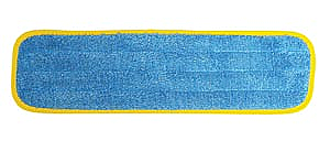 """PRO ADVANTAGE  Wet Mop Pad, Velcro, Blue Microfiber with Yellow Binding, 5"""" x 18""""   Compare to Newell Rubbermaid Brand FGQ410"""