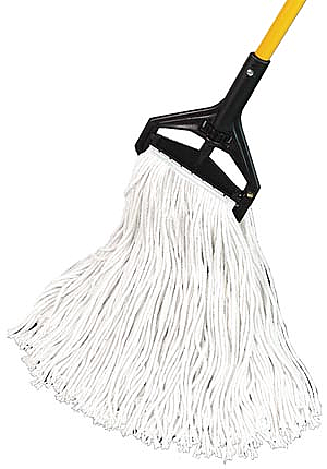 """PRO ADVANTAGE  Wet Mop, Rayon, Cut End, 1 1/4"""" Headband, #20, 17 oz.  Compare to Newell Rubbermaid Brand FGV417"""