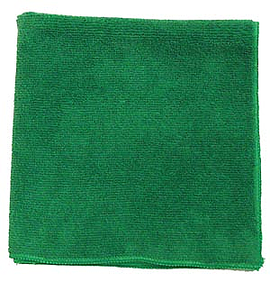 "Pro Advantage P124214 Microfiber Towel, Green, 300 GSM, 12"" x 12"","