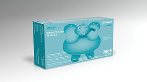 VENTYV NITRILE POWDER FREE EXAM GLOVE PLUS 3.5 (ELEPHANT) : 10336101 CS