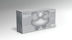 VENTYV NITRILE POWDER FREE EXAM GLOVE PLUS 3.5 (ELEPHANT) : 10337101 CS $303.60 Stocked