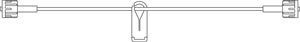 B BRAUN SYRINGE PUMP EXTENSION SETS : V5450 CS