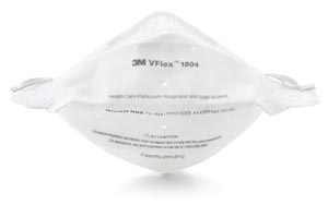 3M N95 PARTICULATE RESPIRATOR & SURGICAL MASK : 1804 CS