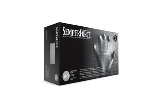 SEMPERMED SEMPERFORCE NITRILE EXAM POWDER FREE TEXTURED GLOVE : BkNF105 BX           $7.47 Stocked
