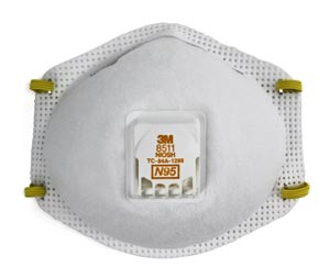 3M 8511 N95 MASK PARTICULATE RESPIRATOR : 8511 CS